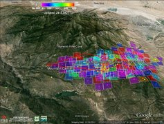 Rock Climbing Photo: GeoMAC KLM Map of the Fire Data in Google Earth