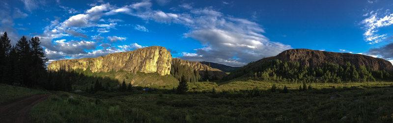 Rock Climbing Photo: Panorama.