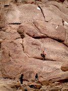 Rock Climbing Photo: Jim Meyer leading Taley.  Julz Moretello belaying.