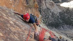 """Rock Climbing Photo: Reaching for the much needed belay """"ledge&quo..."""