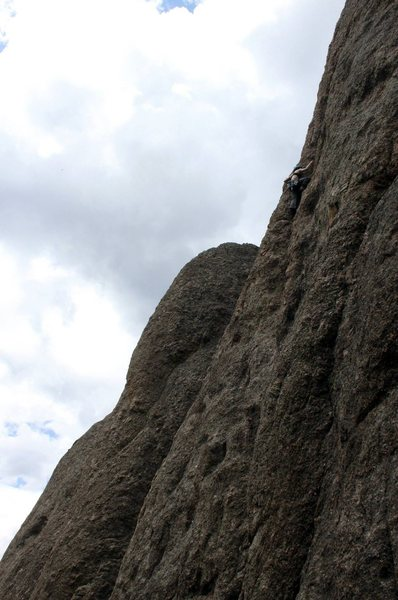 Rock Climbing Photo: Near the finish of La Maudite.