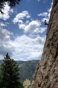 Rock Climbing Photo: Rapping off the Steeple in the Outer Gates, with t...