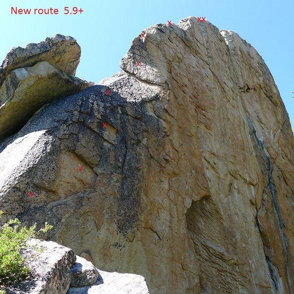Rock Climbing Photo: Fun new route at Dreamscape domes.
