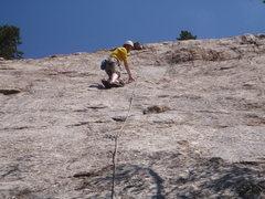 Rock Climbing Photo: Hard Monkey, White Cliff