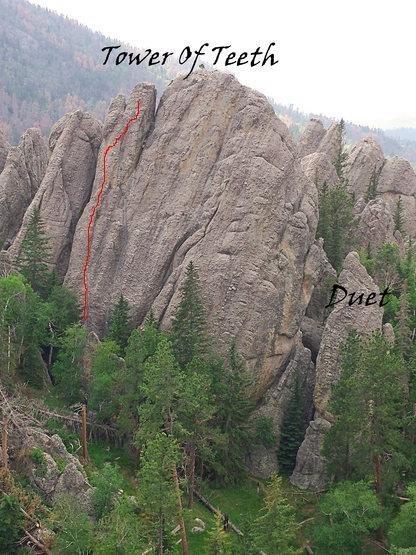 Rock Climbing Photo: Morannon on Tower of Teeth