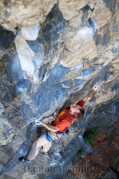 Start of the lower crux.