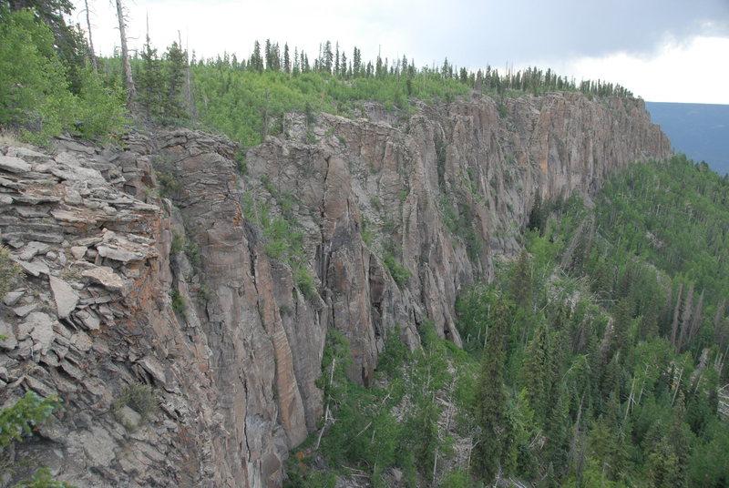 Lower Jungle cliffs