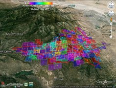 Rock Climbing Photo: Mountain Fire: GeoMACKML using Google Earth from 0...