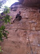Rock Climbing Photo: Crosstown Traffic, 5.11a, Jacks Canyon, AZ. First ...