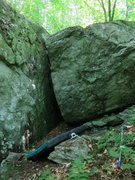 Rock Climbing Photo: Right of chimney overhung arete.  Stand start...si...
