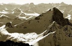 Rock Climbing Photo: Wetterhorn in winter, March 2013.