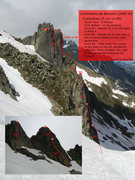 Rock Climbing Photo: Topo for Crakoukass.  Make using Beta Photo Creato...
