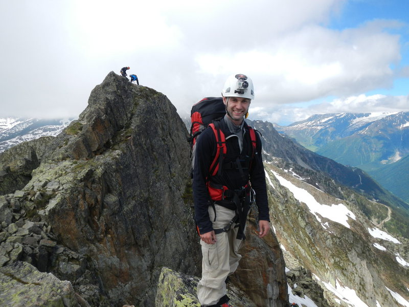 Rock Climbing Photo: Atop of the left gendarme with the right gendarme ...