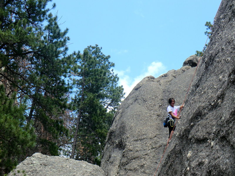 Rock Climbing Photo: A 5.8 in Rushmore, SD