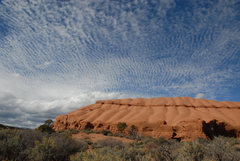Mackerel sky over Promise Rock <br />Garfield County