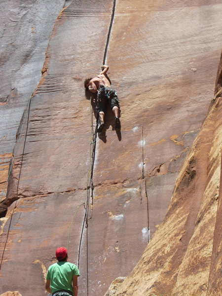 Rock Climbing Photo: Robbie, young gun.  there is a Russian dude not we...