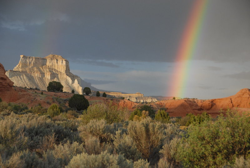 Summer Rainbow near Henrieville<br> Garfield County