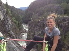 Rock Climbing Photo: Squamish bc - star check.  3 pitch awesomeness abo...