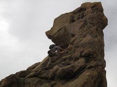 Rock Climbing Photo: on the summit spire