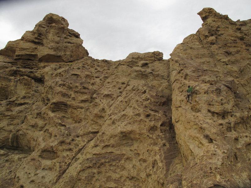 Rock Climbing Photo: soloing on brogan