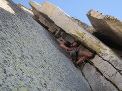 Rock Climbing Photo: in the chimneys