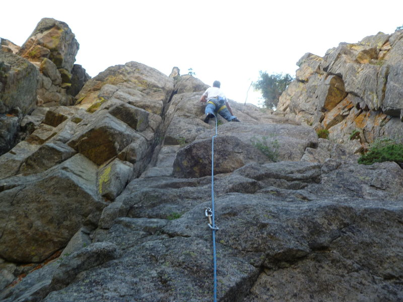 Rock Climbing Photo: Close to midway.
