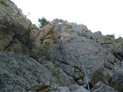 Rock Climbing Photo: Getting close to the crux.