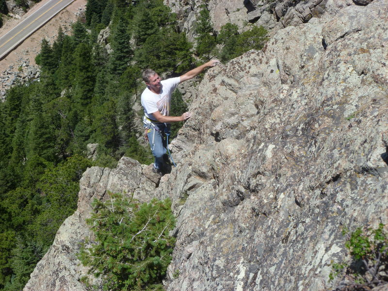 Rock Climbing Photo: Cruising up the arête.