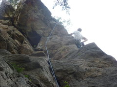 Rock Climbing Photo: A little to the right with pro already placed at t...