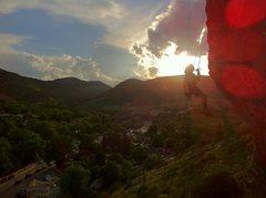 Rock Climbing Photo: The Nautilus Cave Pitch 5.10 -Friend Austin