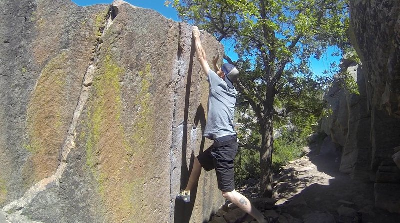 Rock Climbing Photo: Done Deal Dyno.  Climber: Joe Haught.