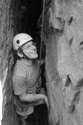 Rock Climbing Photo: chris enjoying him self...