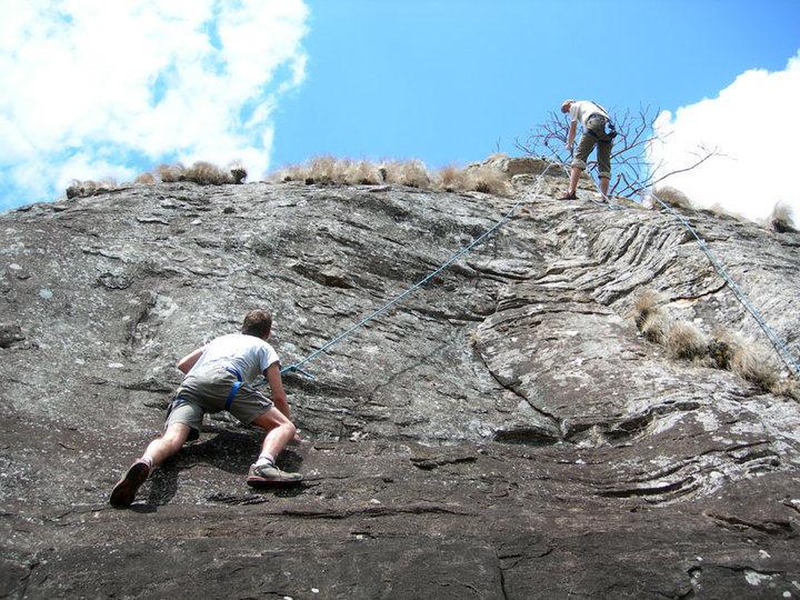 Rock Climbing Photo: The first climbs at Chinamwali