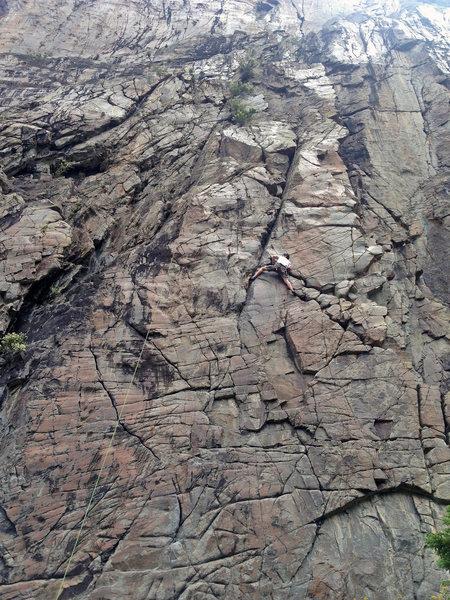 Rock Climbing Photo: Cheeseburger in Paradise, 5.10+ PG-13.