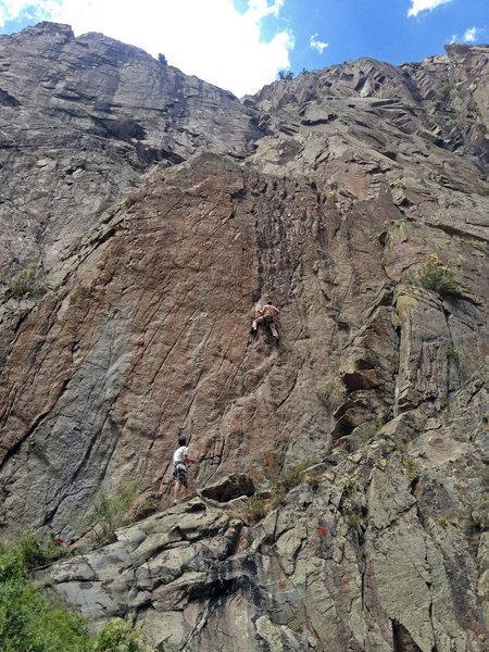 Rock Climbing Photo: White Salamander, 5.12-.