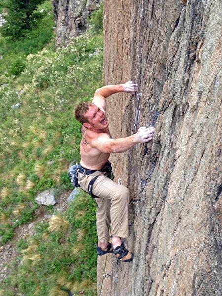 Rock Climbing Photo: Ben on White Salamander, 5.12-.