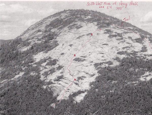 Topo of climb