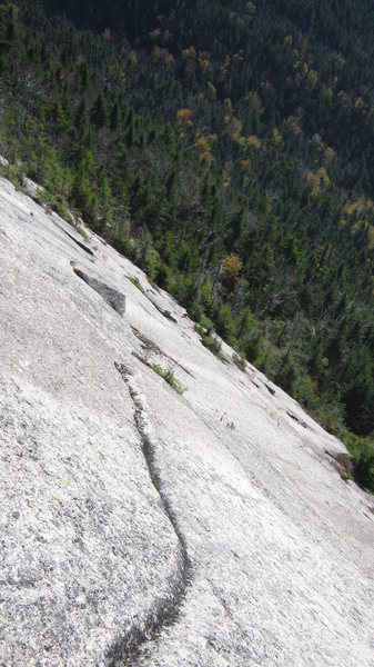 Rock Climbing Photo: Looking down and across the slab