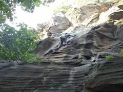 Rock Climbing Photo: Starting up the 5.10c section, which has 4 bolts f...