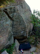 Rock Climbing Photo: This problem is also called Slots in some guideboo...