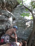 Rock Climbing Photo: The start of Washboard.