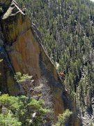 "Rock Climbing Photo: Climbers on the ""money pitch"" of BMPM. J..."