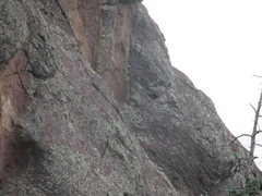 Rock Climbing Photo: This is the 5.7 crux off the ramp. The photo was t...