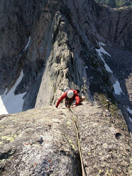 Working up the first ridge