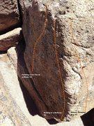 Rock Climbing Photo: 2nd Boulder Corridor Topo
