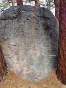 Rock Climbing Photo: 19th Boulder South face Topo