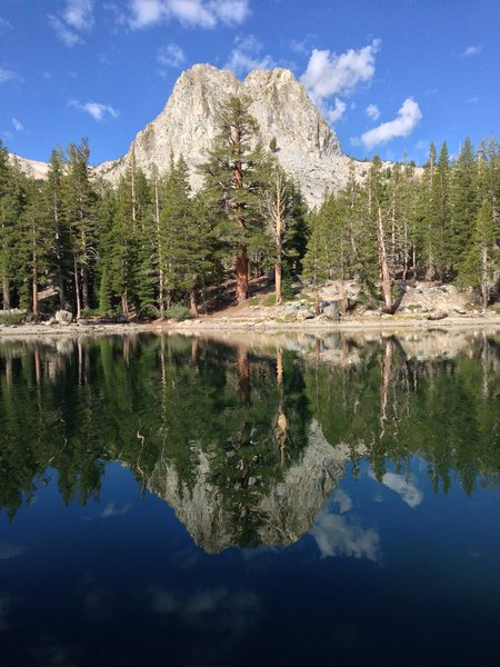 Rock Climbing Photo: Crystal Crag from Lake Barrett