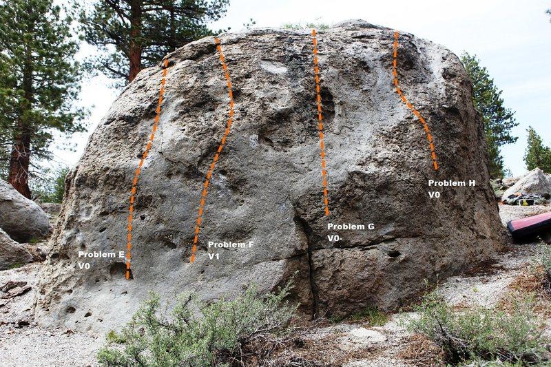 Dragon Boulder East Face Topo
