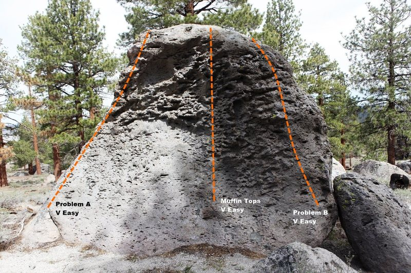 Muffin Top Boulder West Face Topo