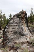 Rock Climbing Photo: Muffin Top Boulder North Face Topo
